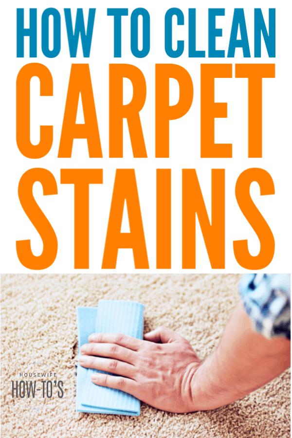 Cómo limpiar las manchas de la alfombra: trate las manchas nuevas o viejas usted mismo #limpieza # eliminación de manchas #housewifehowtos
