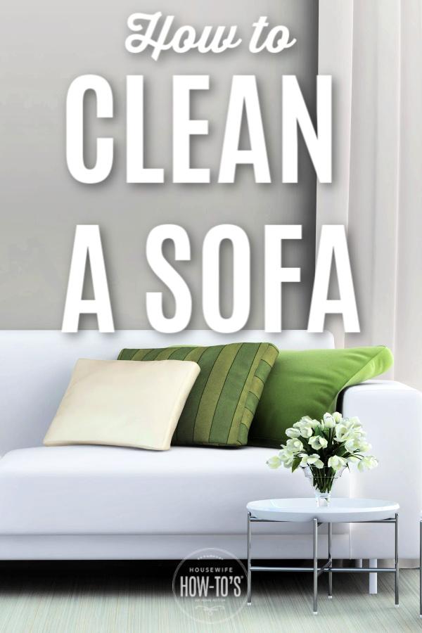 Cómo limpiar un sofá o un sofá
