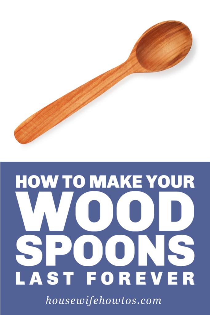 Cómo hacer que sus cucharas de madera duren para siempre