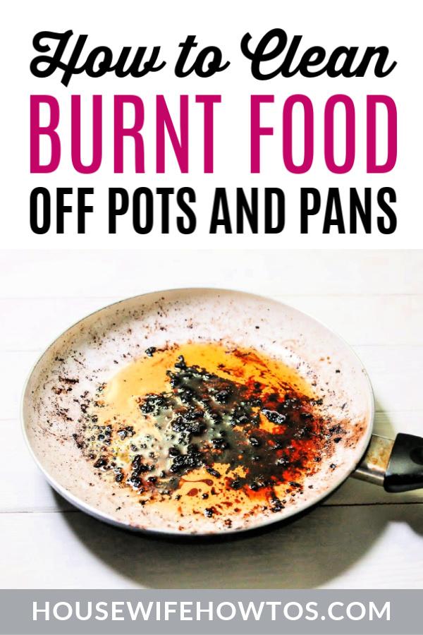 Cómo limpiar alimentos quemados de ollas y sartenes