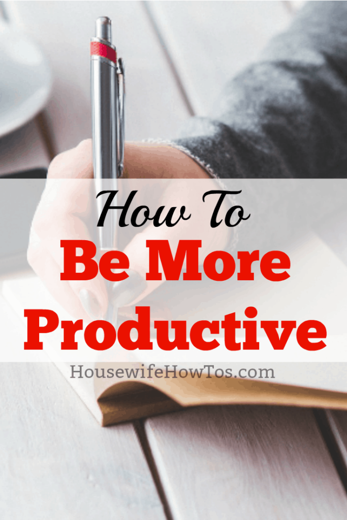 Cómo ser más productivo (no solo para las amas de casa) #productividad #productividad personal #gestión del tiempo #gettingitdone #getitdone