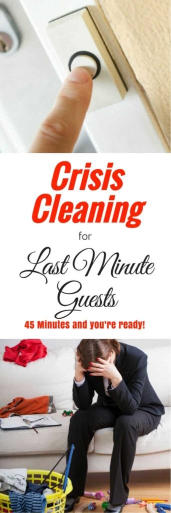 Limpieza de crisis para huéspedes de último minuto: una rutina de limpieza rápida cuando se acerca una compañía inesperada | vía HousewifeHowTos.com
