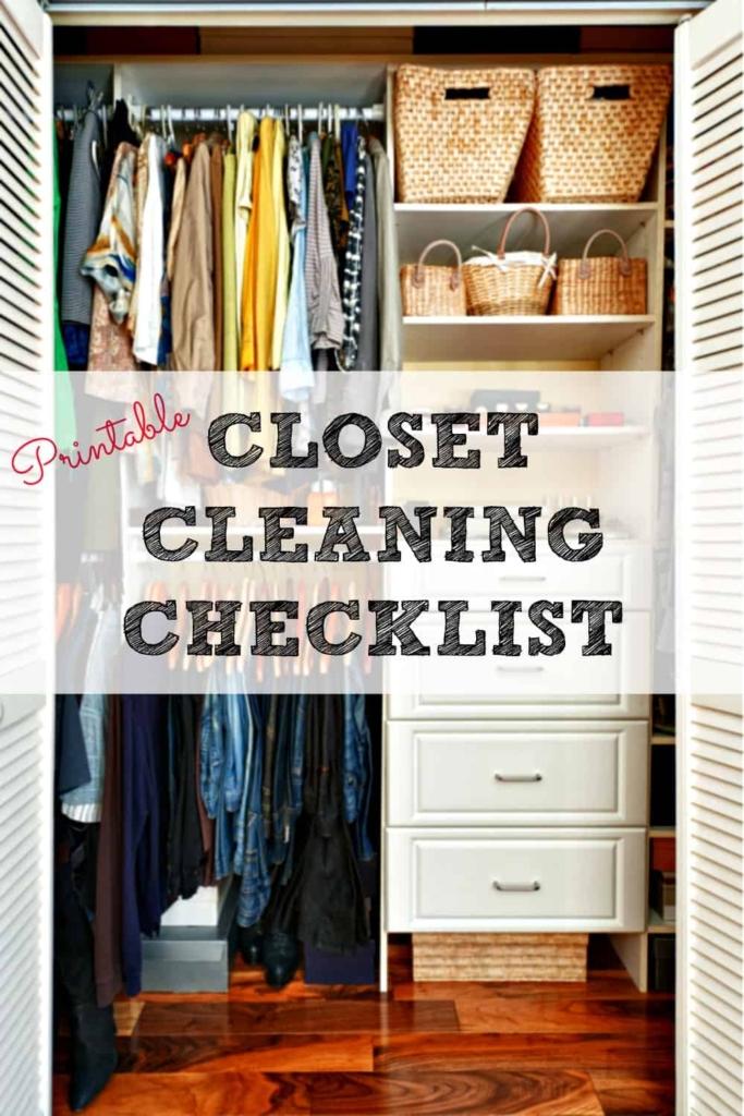 Lista de verificación de limpieza del armario: una lista de verificación para la limpieza y organización total del armario, además de una rutina semanal para mantenerlo en buena forma. #limpieza del armario #organización #organización del hogar #decluttercontrol #cluttercontrol #ropa #ropa