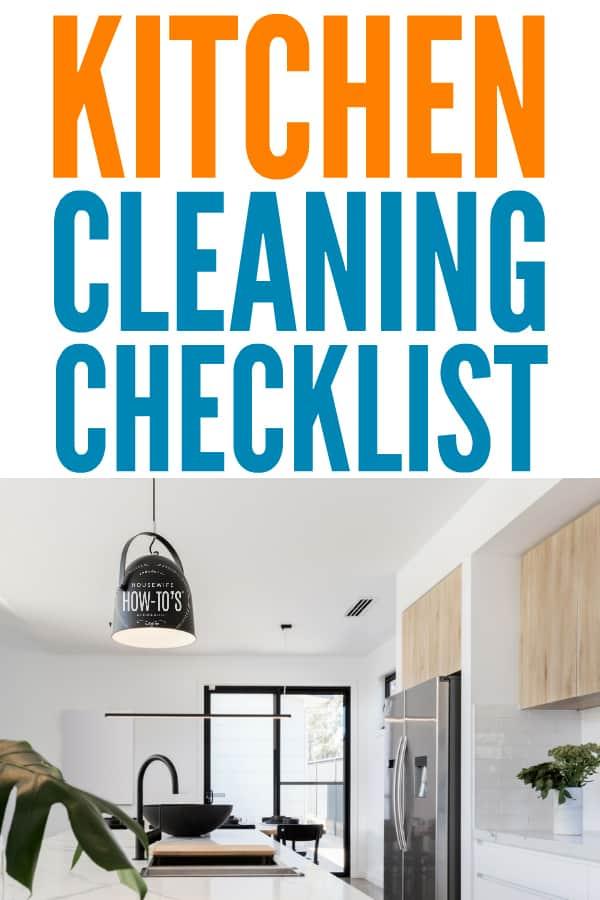 Lista de verificación de limpieza de la cocina: hace que mi cocina esté más limpia más rápido que nunca. #limpieza #limpieza de la cocina #rutina de limpieza #amas de casahowtos #lista de verificación