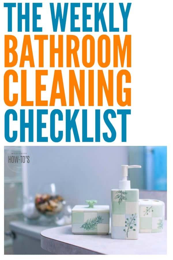 Lista de verificación de limpieza semanal del baño: ¡esta rutina hace que mi baño esté más limpio que nunca y en menos tiempo cada semana también! #lista de verificación de limpieza #rutina de limpieza #limpieza #limpieza del baño #consejo de limpieza