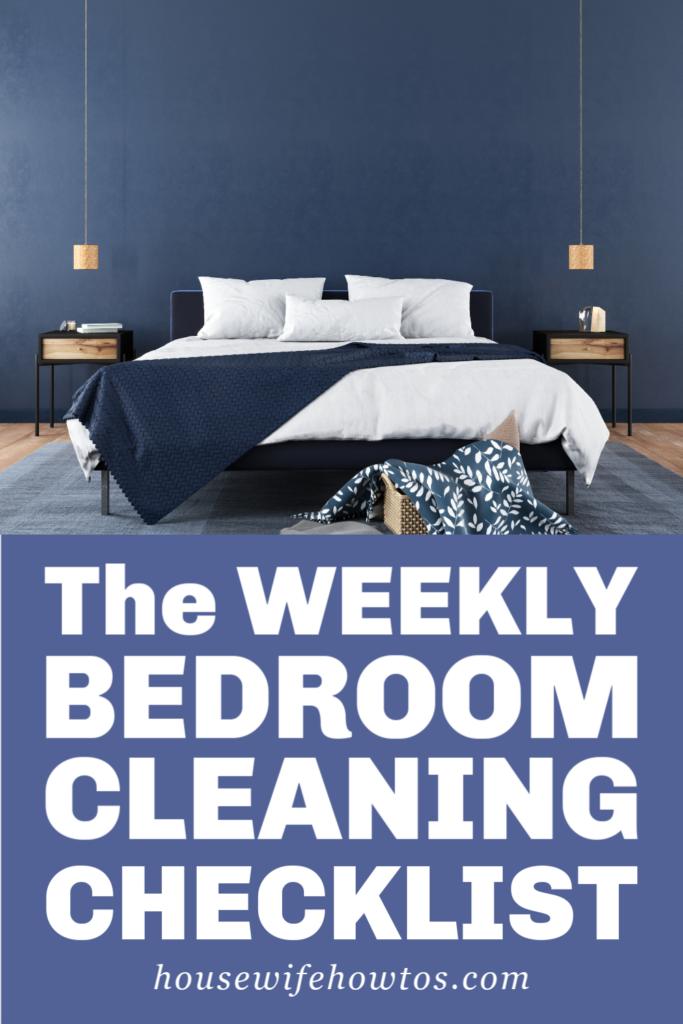 Rutina de limpieza semanal del dormitorio