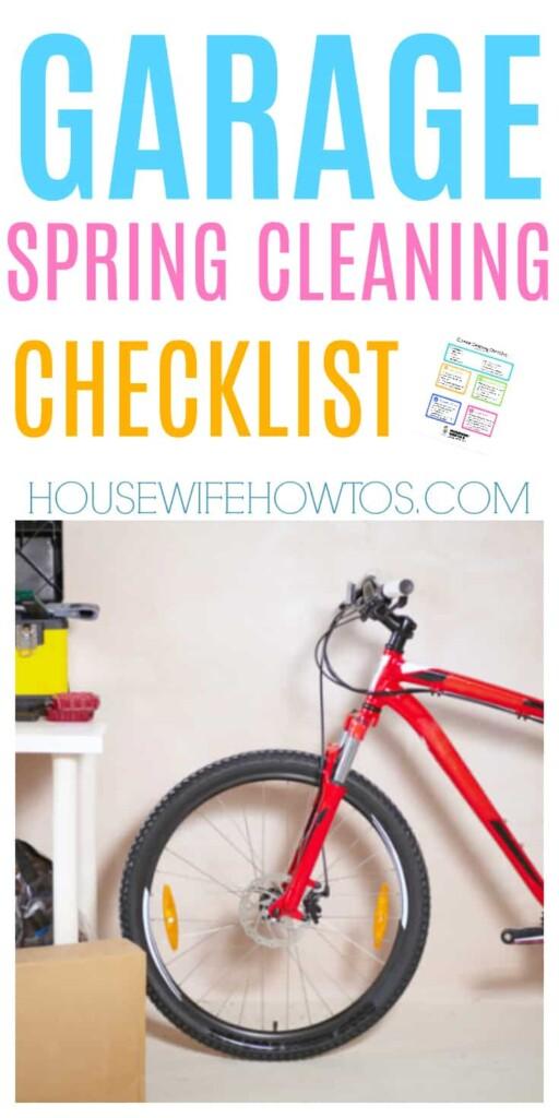 Lista de verificación de limpieza de primavera del garaje: ¡tan limpio y organizado ahora! #limpieza de primavera #limpieza #limpieza profunda #garaje #organización del hogar #organización de garajes #limpieza de garajes