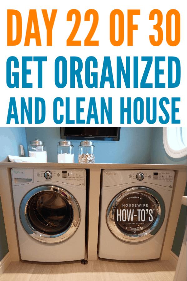 Organización de la lavandería - Día 22 #getorganized