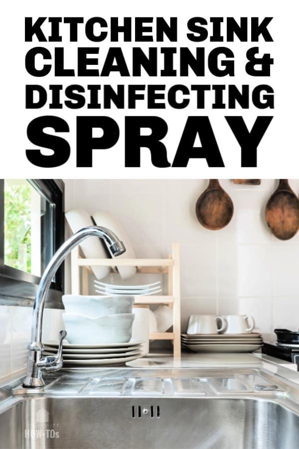 Spray limpiador y desinfectante para fregaderos de cocina