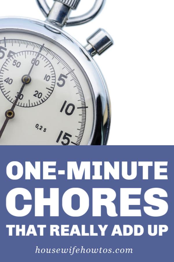 Tareas de un minuto que realmente suman
