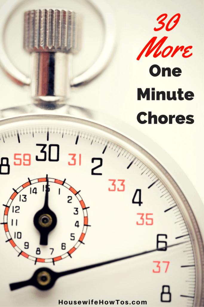 30 tareas más de un minuto: ¡me encantan estas listas que me ayudan a ajustar la limpieza en minutos que estaría desperdiciando!